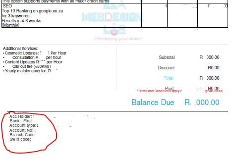 Where To Input Bank Account Details To Be Displayed On Sales Invoice - Invoice with bank details