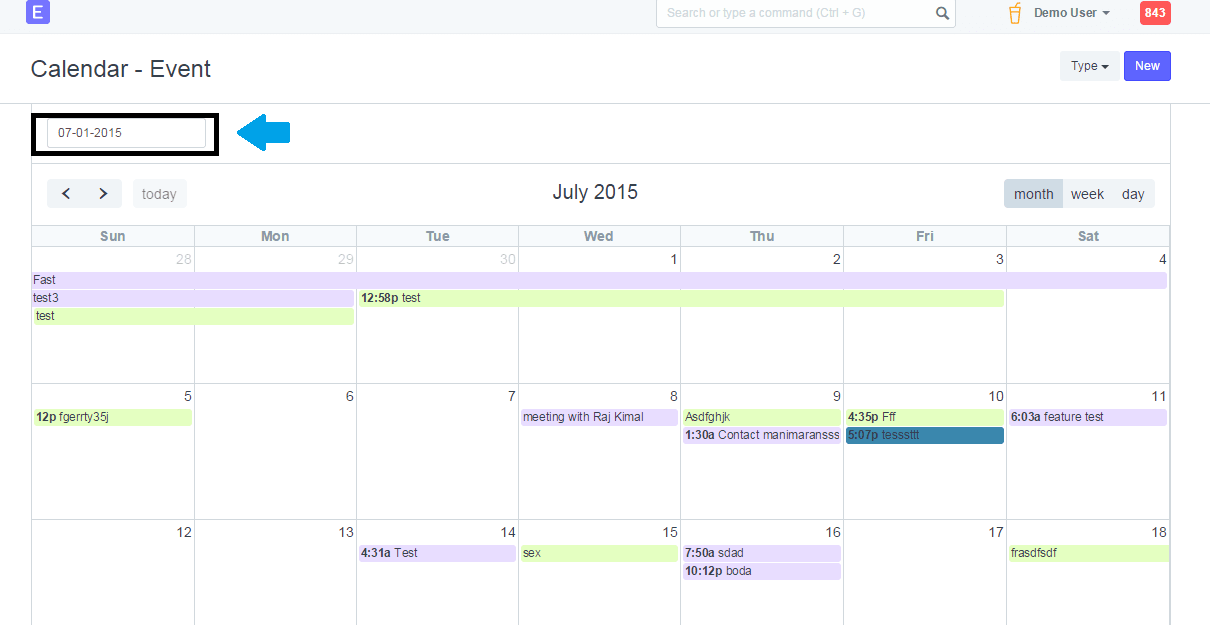 Change the default value of date input - Customization
