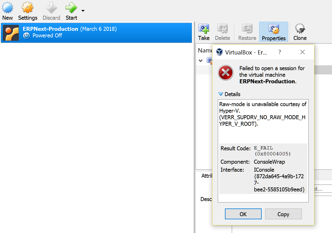 VirtualBox Won't Run - raw-mode unavailable courtesy of Hyper-V