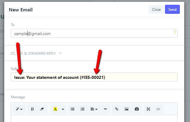 How to change default subject in emails depending on doctype