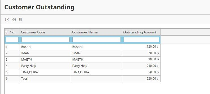 Total Customer Outstanding - Reports - Discuss Frappe/ERPNext