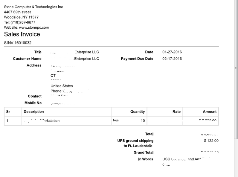 Invoice format different from email to print - Print Formats ...