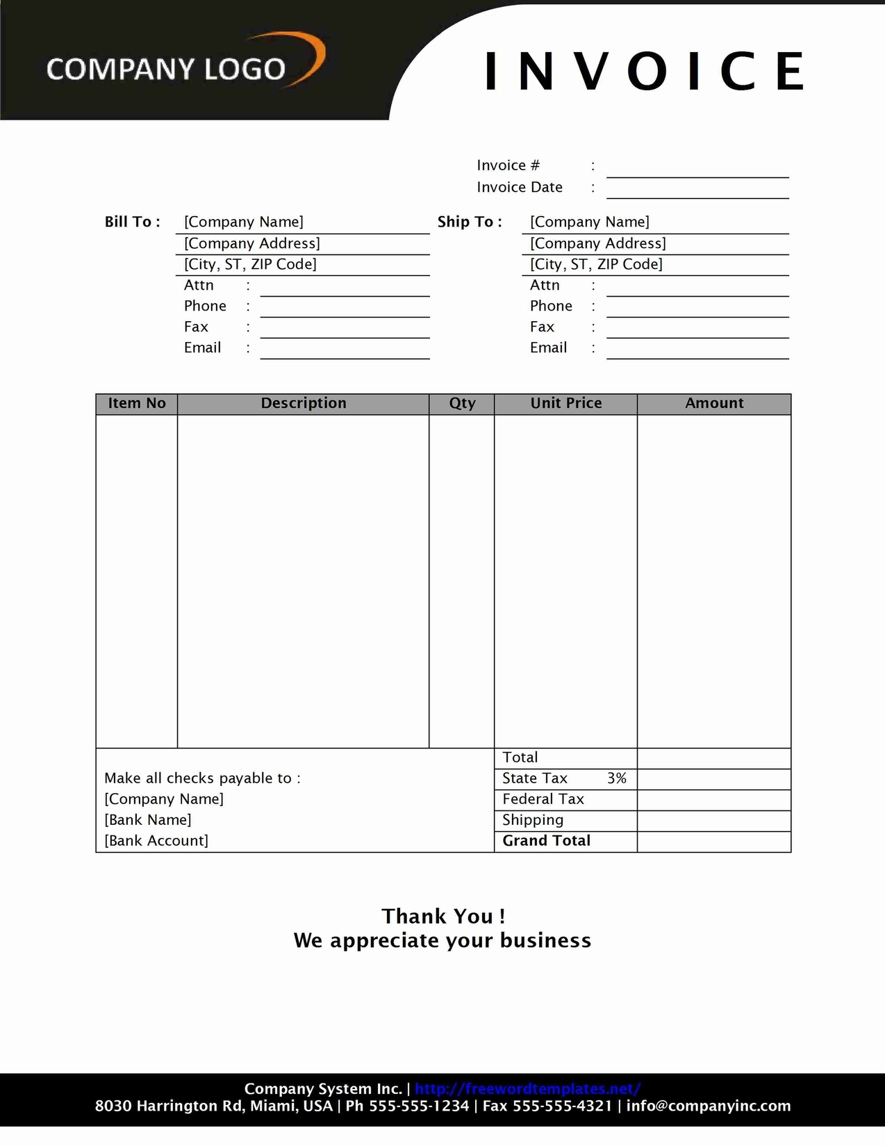Sales Invoice Print Format With Fixed Table Length Print Formats