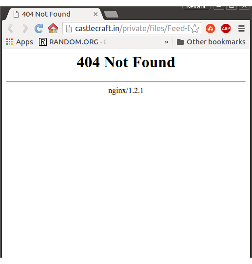 Private files - 404 Not found nginx - Developers - Discuss