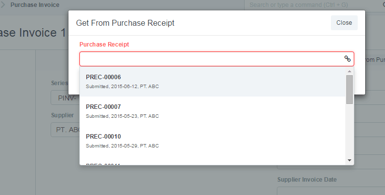 how to get original purchase receipt on clickpos